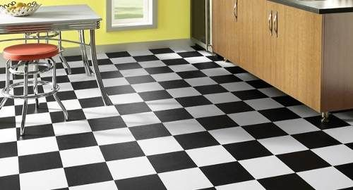 pisos vinilicos baldosas autoadhesivas liso blanco y negro