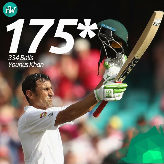 A scintillating knock from the veteran, who single-handedly made a stand for Pakistan! #AUSvPAK #younuskhan