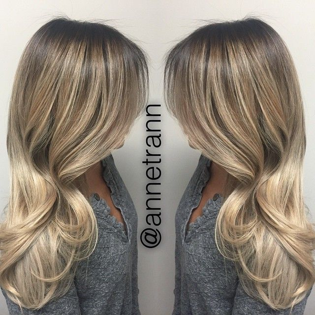Ash blonde ombré with deepened roots for low maintenance and a seamless grow out that allows you to go longer without touching it up