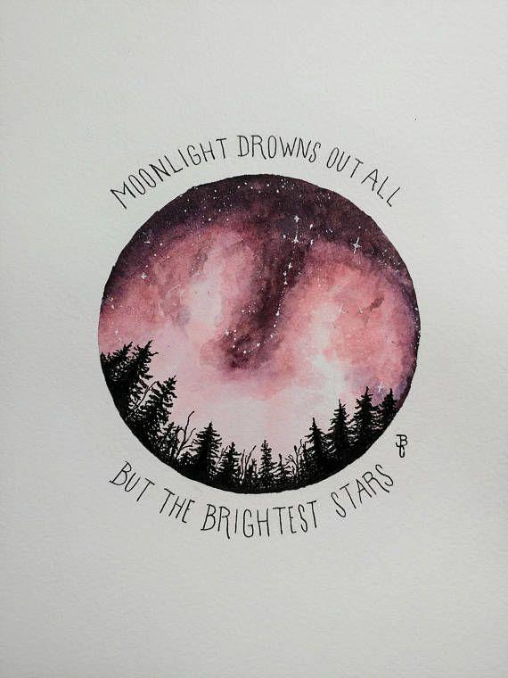 Watercolor Scorpio Constellation, Night Sky