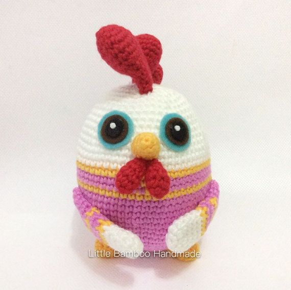PATTERN  Rooster The 12 Zodiac Egg  by LittleBambooHandmade
