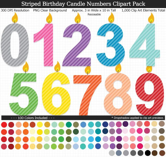 1 Birthday Candle Clipart