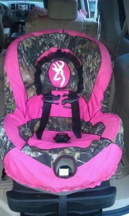 Pink Camouflage Car Seat