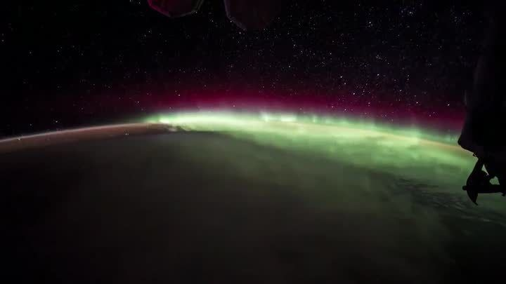 International Space Station astronaut Jack Fischer tweets amazing footage of the Northern Lights from space.