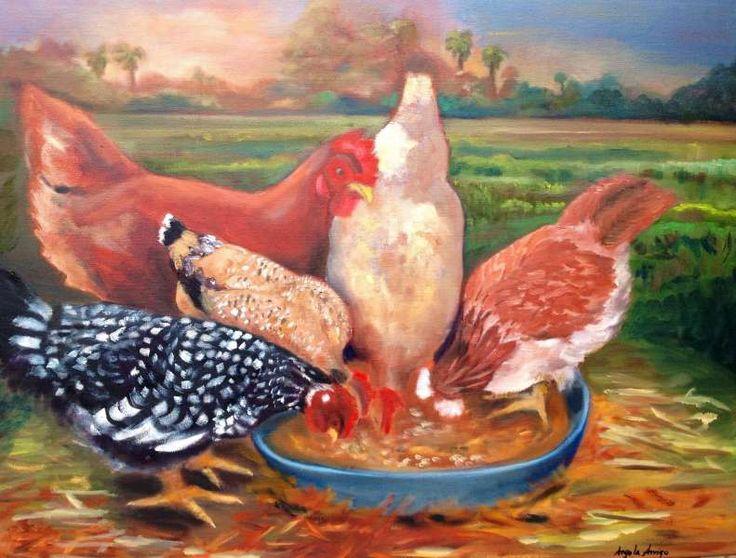 Angela Artist - Michelle's Chickens