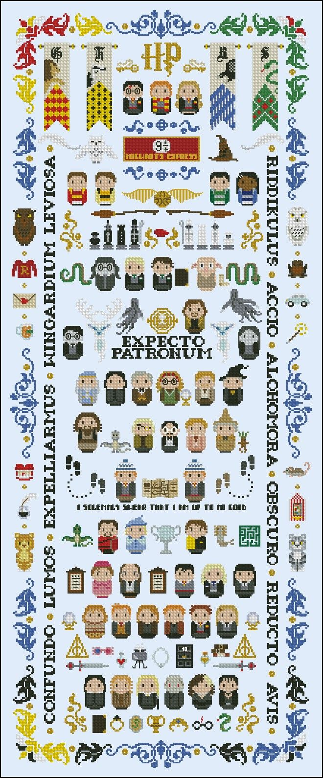 Harry Potter - Giant Version - Mini People - Cross Stitch Patterns - Products