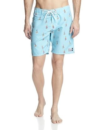81% OFF ambsn Men's Catalina Boardshort (Light Blue)