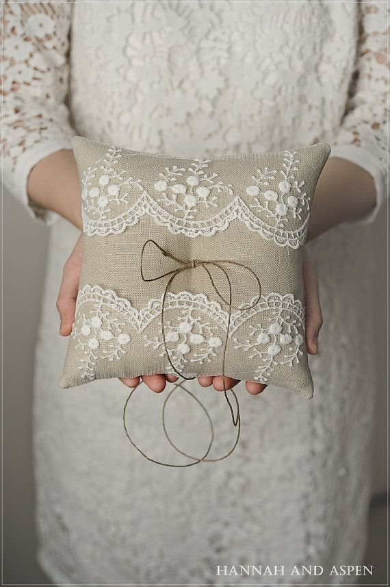 Ring pillow wedding ring pillow bridal ring by HannahAspensbridal