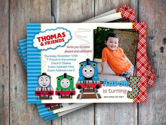 thomas the train birthday invitation personalized diy printable thomas the tank engine party