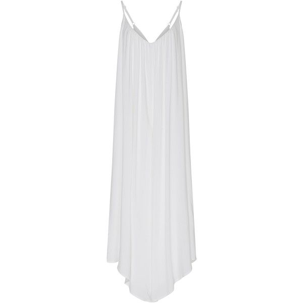 Lenny Niemeyer Jumpsuit Cover Up ($200) ❤ liked on Polyvore featuring swimwear, cover-ups, white, lenny, beach cover up, cover up beachwear, white cover up swimwear and white swimwear