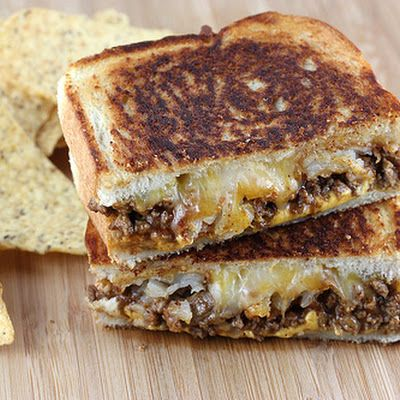 Taco Grilled Cheese good use for leftover taco meat