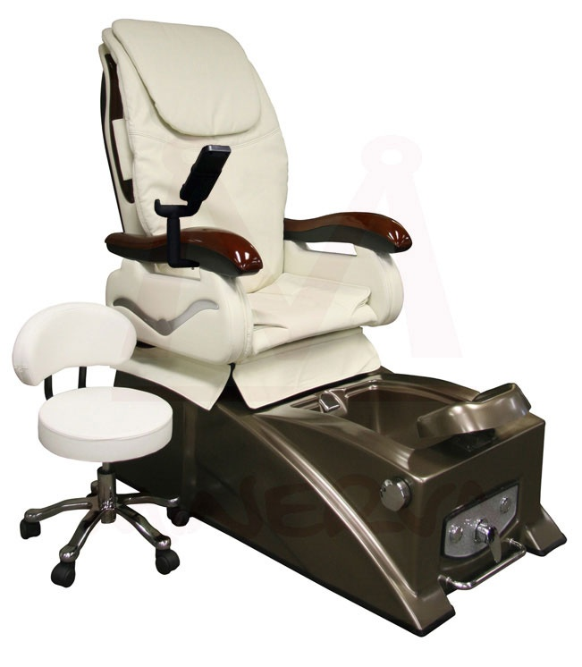 Madison II Pedicure Chair  -Minerva  -Wood arms, full shiatsu massage, tilt/recline