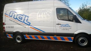The Green I Signs Blog: Mercedes van sign writing for NDL Distribution, Da...