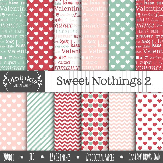 Sweet Nothings 2 Digital Paper Pack