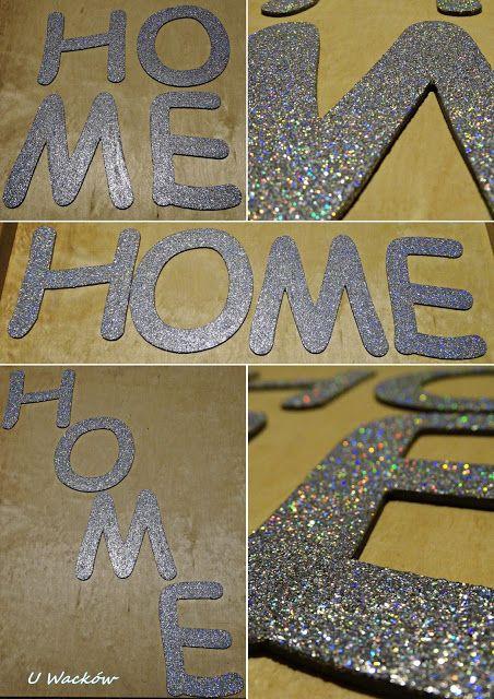 Brokatowy napis HOME