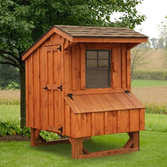 Amish Cedar #Quaker #Chicken #Coop - 4 x 4