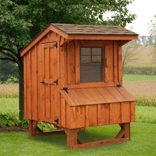 Amish Cedar #Quaker #Chicken #Coop - 4 x 4