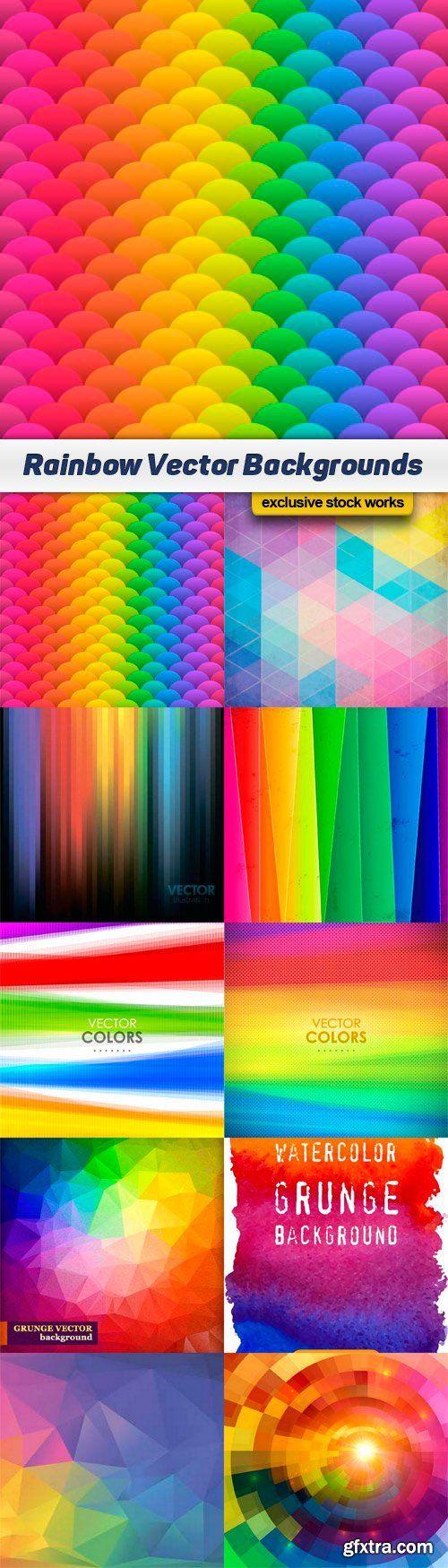 Rainbow Vector Backgrounds - 10x EPS