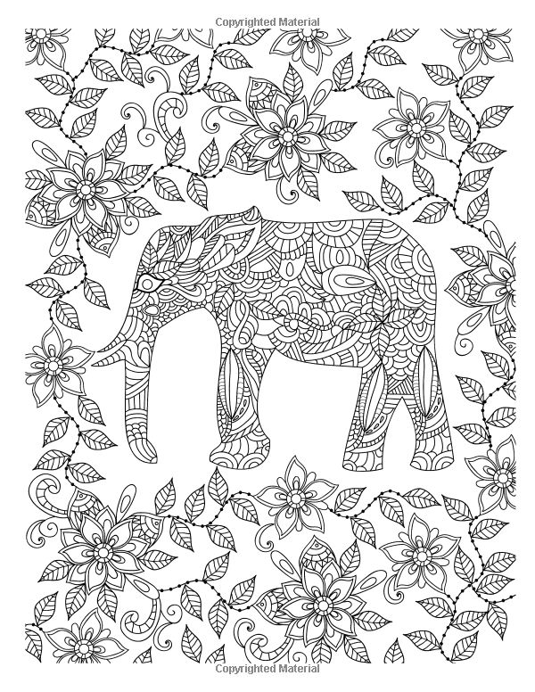 319 best ✐adult colouring~elephants~zentangles images on ... - Coloring Page Elephant Design