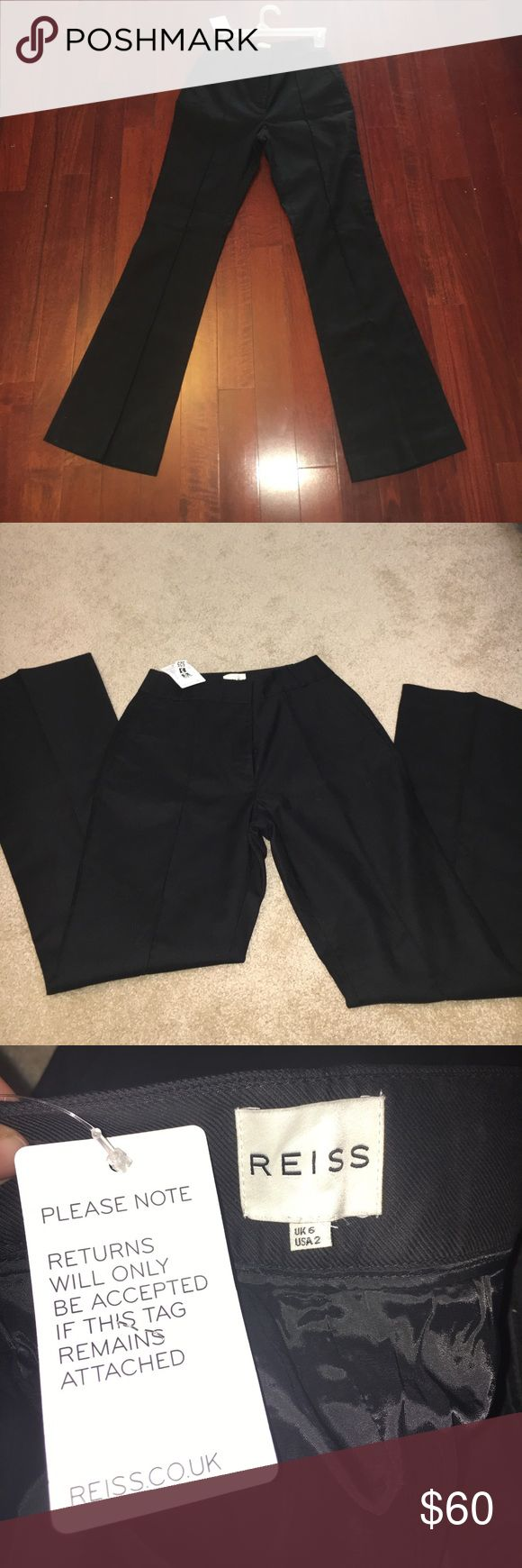 Brand New Reiss Trouser Pleat Dress pants They are new pleat crease flat front designer dress pants never worn . Tags attached . Inseam is 30 waist is 24 . The designer dress pants are $265 & up . www.reiss.com too small for me Reiss Pants Trousers