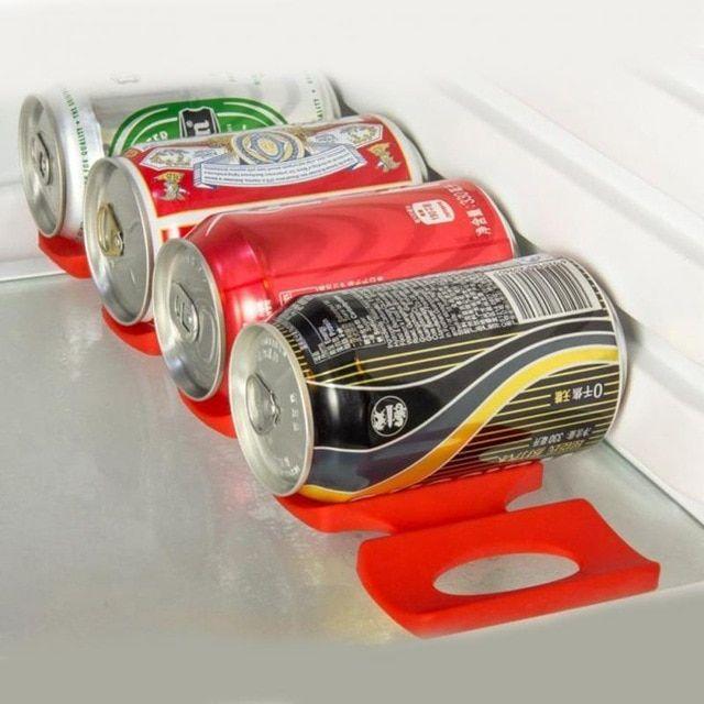 Silicone Storage Holder Mat Refrigerator Fridge Beer Rack Space