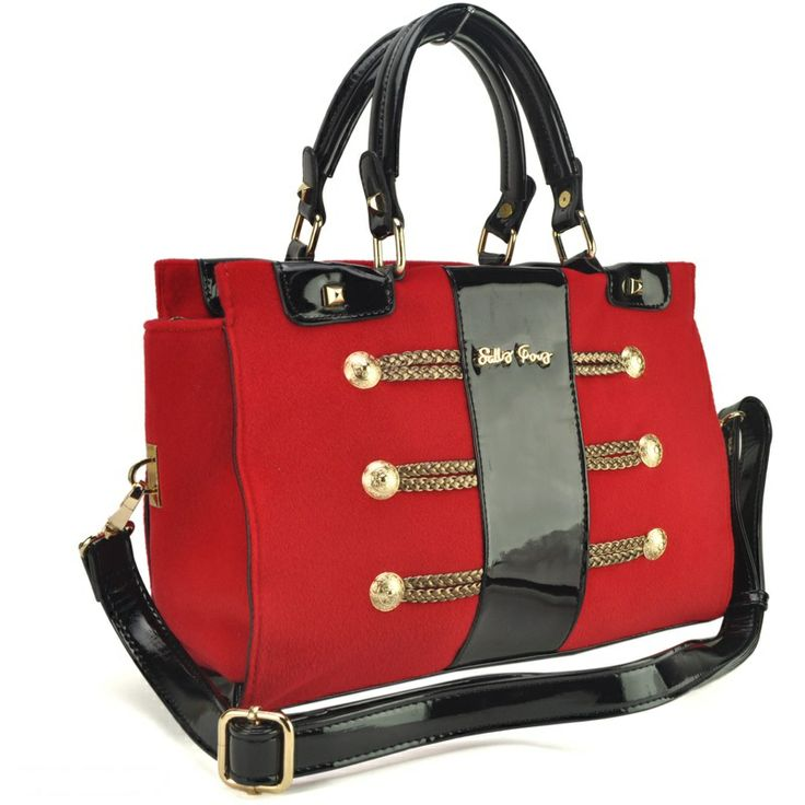 Sally Young  Brand Vintage Bag With Button and Woven Details £36