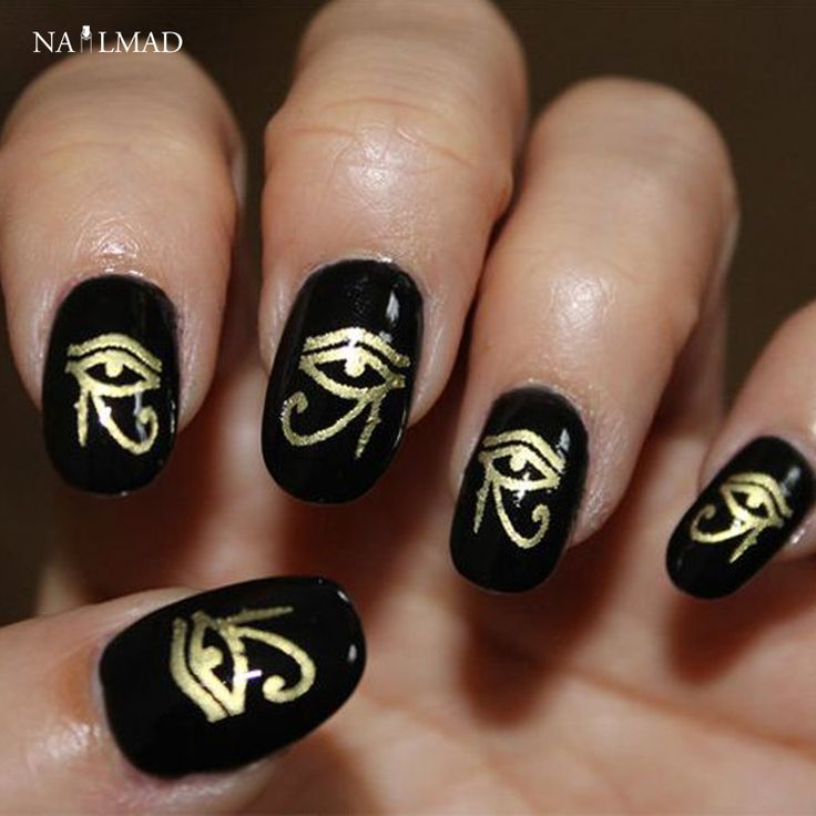 1 sheet NailMAD Horus Egyptian Nail Art Sticker Egyptian Eye of Horus 3D Nail Sticker Sphinx Nail Sticker