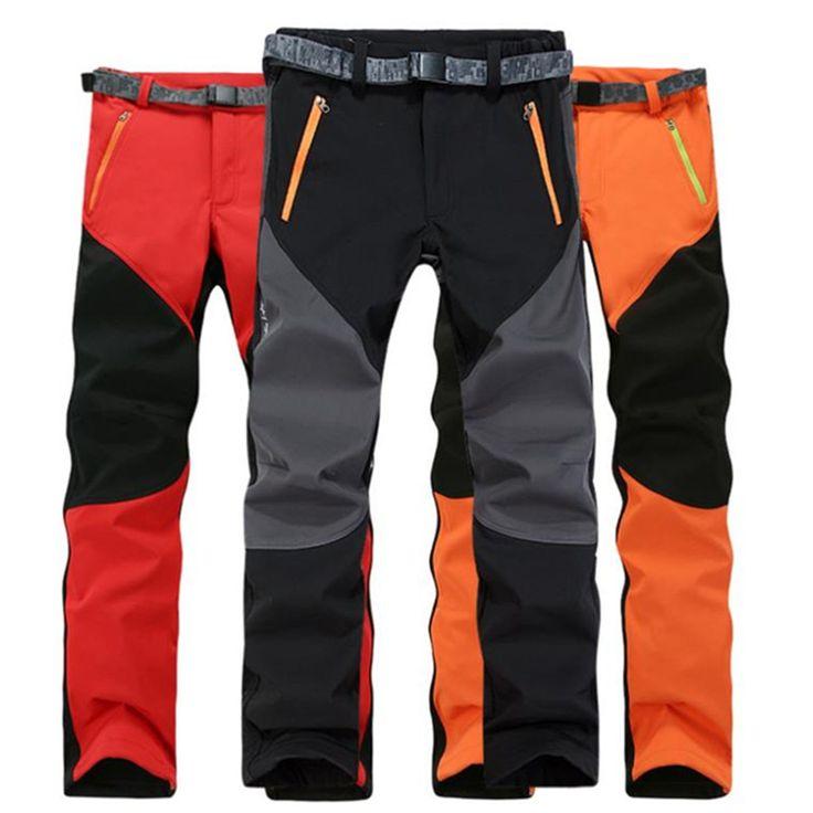 >> Click to Buy << 2016 Autumn And Winter Men Pants Keep warm Casual Pants Fleece Trousers Waterproof Windproof Cargo Pants Plus Size S-XXXL #Affiliate