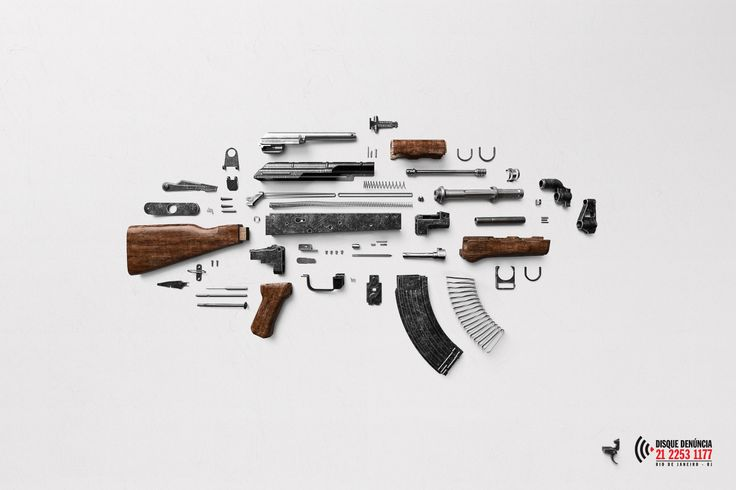 """Disque Denuncia: """"Gun""""Nice print ad for a service that prevents violence. Would also be a cool gif and social post idea.Metal Potential? Bronze."""