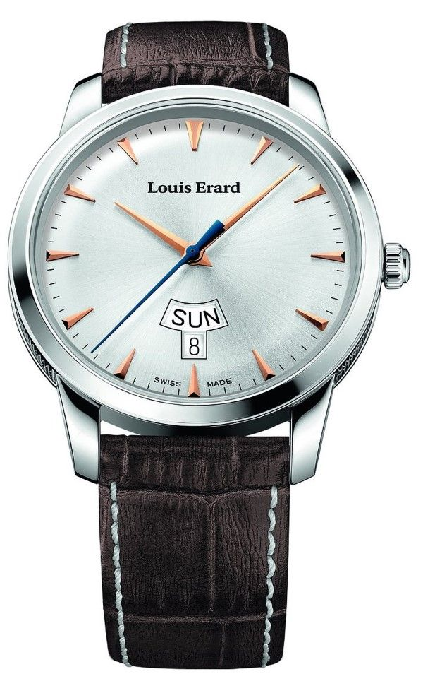 Men watches : Louis Erard Heritage Collection Swiss Quartz Silver Dial Men's Watch 15920AA11.BEP101