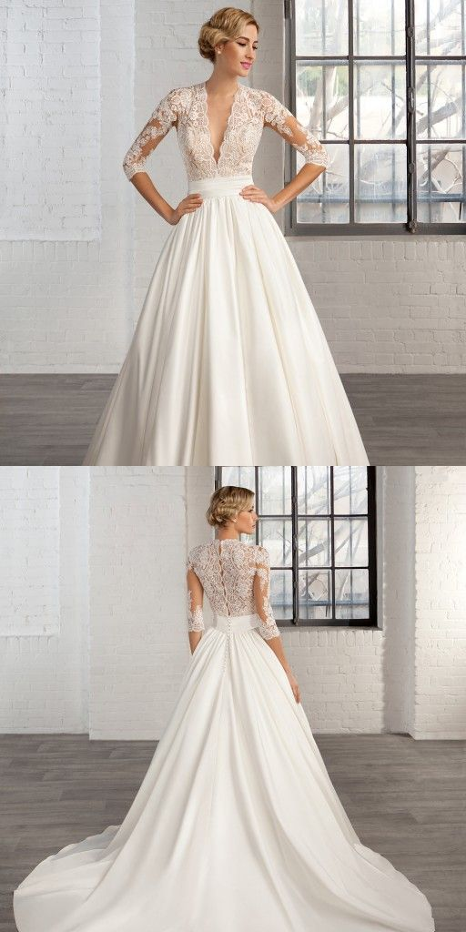 Classic wedding gowns vintage images for Vintage simple wedding dress