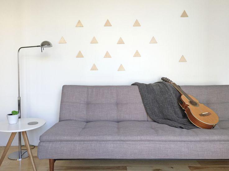 Triangles en bois - MIXO - style scandinave - déco murale | Wood Triangles - MIXO - scandinavian style - wall decoration