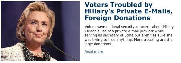 Poll: Hillary hiding something in emails | WashingtonExaminer.com