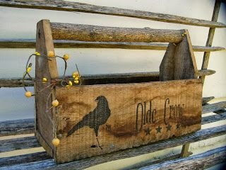 Primitive Toolbox with Old Crow and Stars