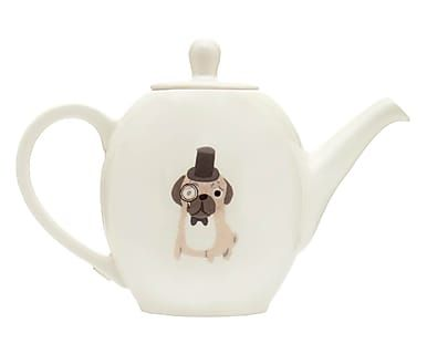 Teekanne Pug, B 24 cm