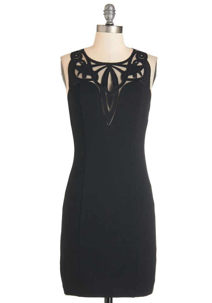 Take on the Swirled Dress. Underscore your confidence and charisma by slipping into your reliable little black dress and hit the town! #black #modcloth