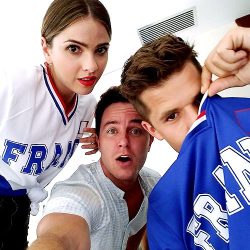 Shelley Hennig, Ryan Kelley and Charlie Carver at #TFMIC3