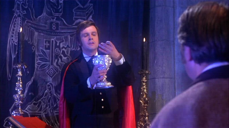 Taste the Blood of Dracula (1969) was a very interesting Dracula entry - here Lord Courtley (played with evil relish by the great Ralph Bates) offers three Victorian gentlemen the opportunity to resurrect the lord of darkness