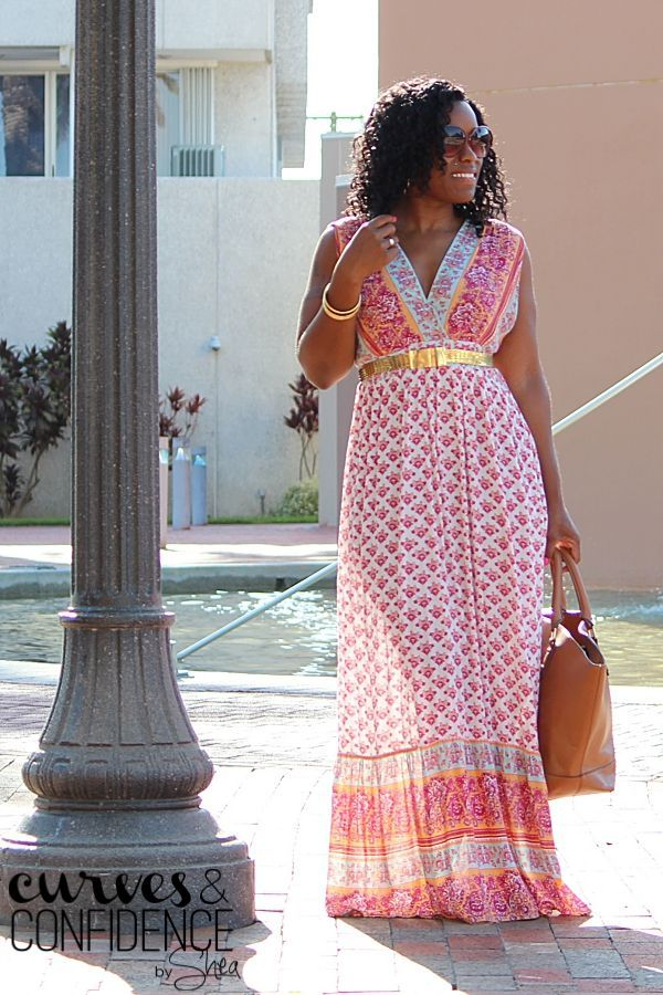 Pull out the bright, printed maxis this summer, and pair them with neutral and metallic accessories!