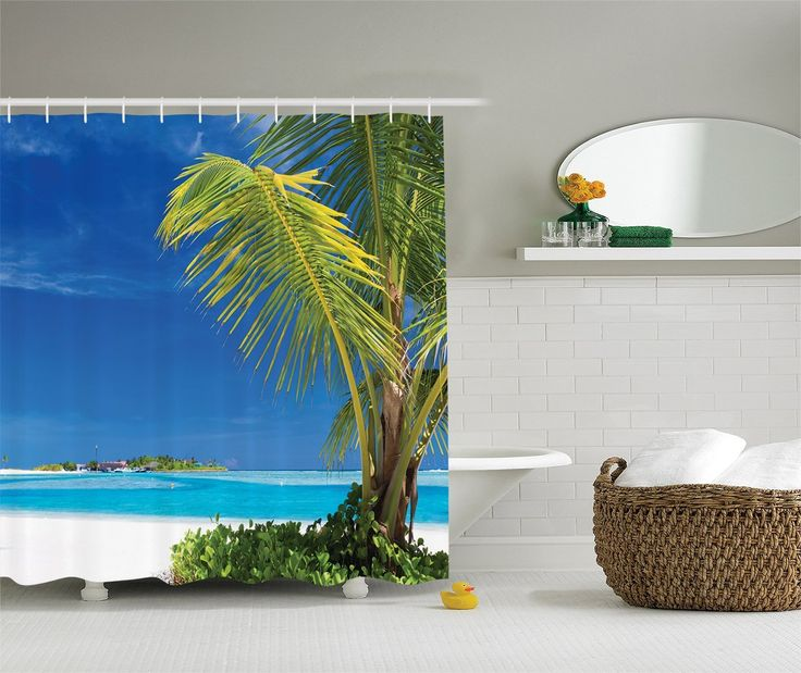 Wonderful Beach Shower Curtains And Nautical Shower Curtains To Improve Your Beach  Themed Bathroom Decor.