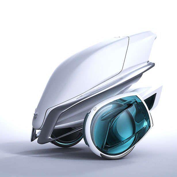 Futuristic Floral Vehicles : Kala Segway