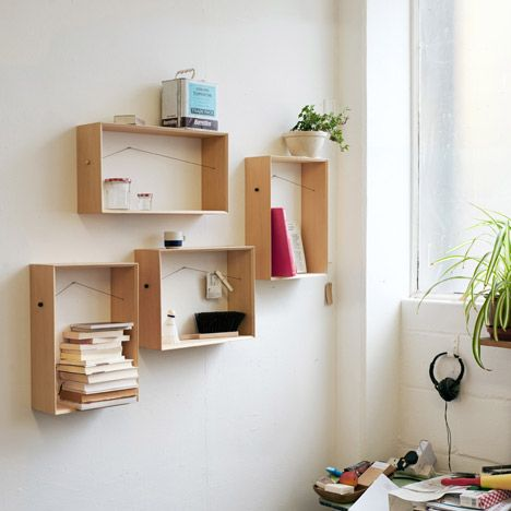 Shelframe by Bahbak Hashemi-Nezhad: Wall Decor, Boxes Shelves, Wall Frames, Bahbak Hashemi Nezhad, Wall Shelves, Wood Shelves, Wine Boxes, Old Crates, Bedrooms Ideas