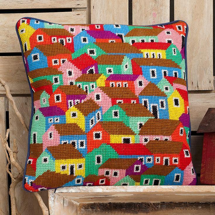 Shanty Town - Ehrman Tapestry - Brandon Mably Needlepoint