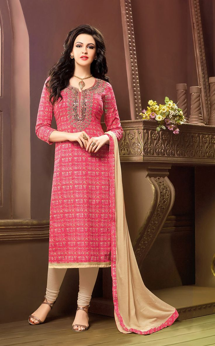 Buy Online Printed Churidar Suit or shuits Vivid Pink and Beige Color, Cotton material, Nazneen Dupattas, Party Wear, Casual wear, Summer Wear, Festival Wear, kitty party wear for women, Churidar Suits, Churidar suit, shuits for women. We have large range of Printed Cotton Churidar suits in our website with the best pricing and unique designs shipping to (UK, USA, India, Germany, UAE, Canada, Singapore, Australia, Mauritius, New Zealand) world wide.