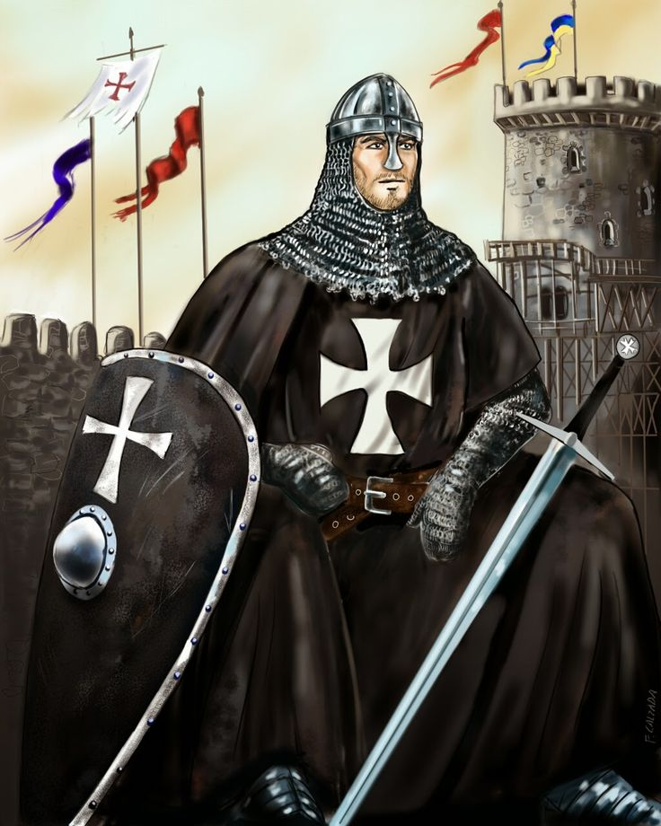 Fernando Calzada Illustrations: THE CRUSADES. Knight Hospitaller, Order of Saint J...