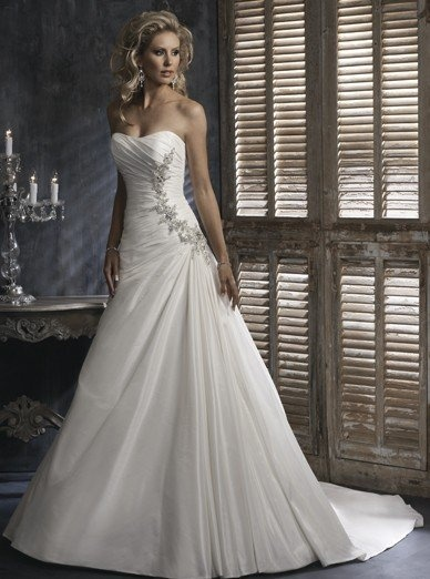 Aline Strapless Gown With Embellishment