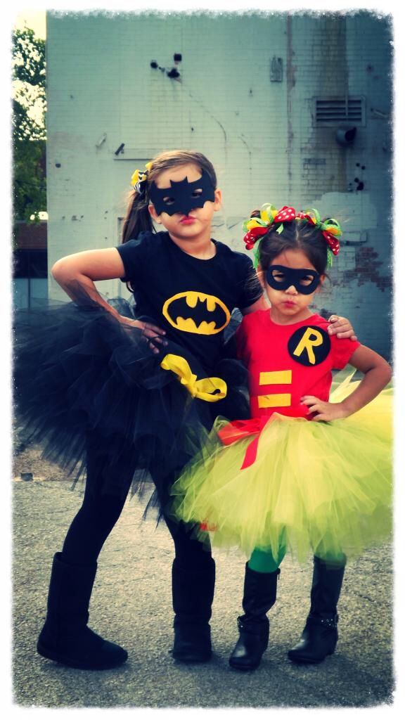 Girls batman & robin costumes