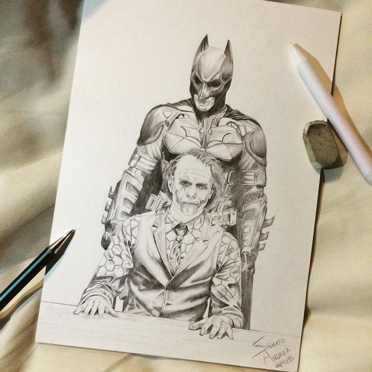 IL CAVALIERE OSCURO 🎬 Batman & Joker 🃏🦇 Mina su Cartoncino✏️