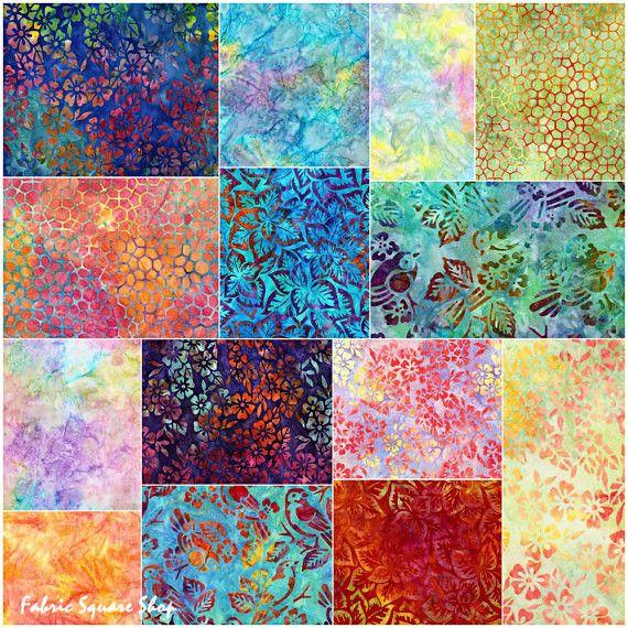 Robert Kaufman Fabrics - Songbird Artisan Batiks - 14pcs / Fat Quarters