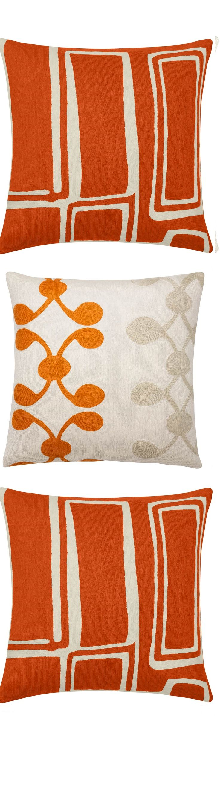 """orange pillows"" ""orange throw pillows"" ""orange modern pillows"" By…"